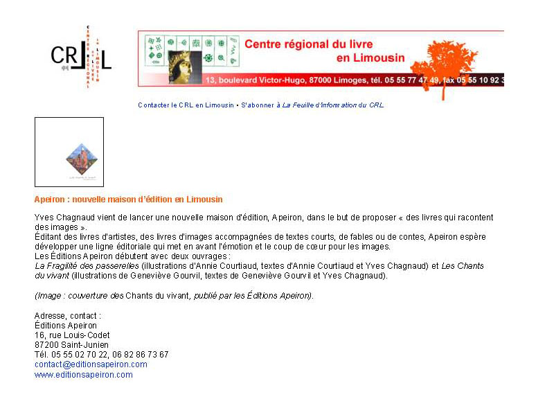 annonce CRL