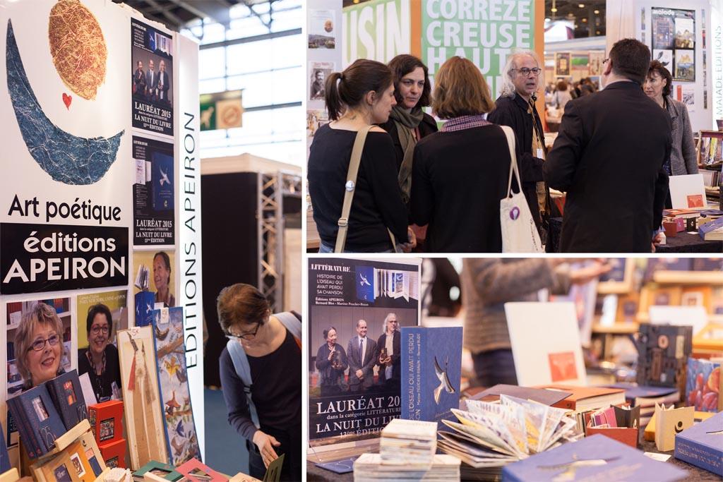 montage apeiron salon du livre Paris 2015